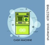 automated teller machine or atm ... | Shutterstock .eps vector #658227448
