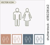 line icon  man and woman | Shutterstock .eps vector #658228162