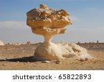 The limestone formation in White Desert, Sahara, Egypt - stock photo