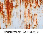 rusted white painted metal wall.... | Shutterstock . vector #658230712