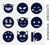 smiley icons set. set of 9... | Shutterstock .eps vector #658231675