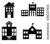 school building icon | Shutterstock .eps vector #658237816
