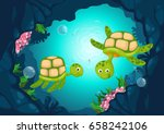illustration of sea underwater... | Shutterstock .eps vector #658242106