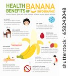 health benefits of banana... | Shutterstock .eps vector #658243048