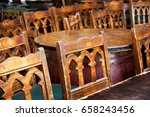 pub chairs and tables | Shutterstock . vector #658243456
