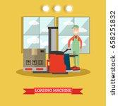 vector illustration of worker... | Shutterstock .eps vector #658251832