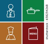 chef icons set. set of 4 chef... | Shutterstock .eps vector #658254268