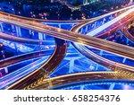 shanghai highway at night china | Shutterstock . vector #658254376