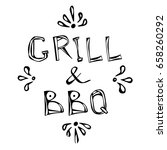 bbq and grill decorative meat... | Shutterstock .eps vector #658260292