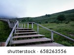 Rustic Stairs Going Up  To...