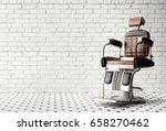 barber shop chair | Shutterstock . vector #658270462