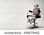 barber shop chair | Shutterstock . vector #658270462