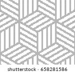 vector abstract geometric... | Shutterstock .eps vector #658281586