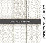 vector geometric seamless... | Shutterstock .eps vector #658281595
