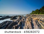 scenery of rocky foreground... | Shutterstock . vector #658282072