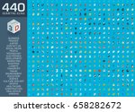 3d web icons set. vector... | Shutterstock .eps vector #658282672