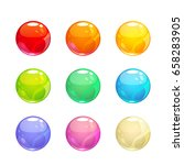 colorful glossy bubbles set....