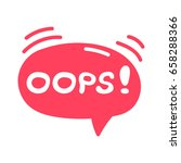 oops  lettering and hand drawn... | Shutterstock .eps vector #658288366