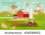 eco farming concept with house... | Shutterstock .eps vector #658288402