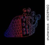 human heart zentangle | Shutterstock .eps vector #658289602