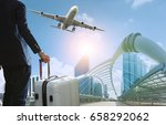 business man and traveling... | Shutterstock . vector #658292062