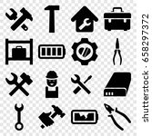 maintenance icons set. set of... | Shutterstock .eps vector #658297372