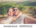happy smiling handsome couple... | Shutterstock . vector #658303162