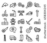 industry icons set. set of 25... | Shutterstock .eps vector #658304245