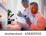 scientists at botanical... | Shutterstock . vector #658305532