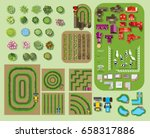 set of tree top symbols  for... | Shutterstock .eps vector #658317886