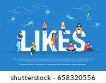 flat vector concept... | Shutterstock .eps vector #658320556