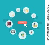 flat icons act  deadline  sheet ... | Shutterstock .eps vector #658320712