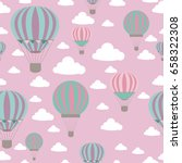 baby shower seamless pattern... | Shutterstock .eps vector #658322308