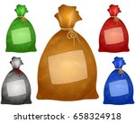 a filled bag is tied with a...   Shutterstock .eps vector #658324918