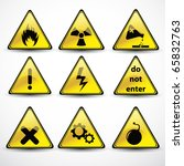 Vector Set Danger Signs