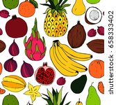 fruit. seamless vector pattern | Shutterstock .eps vector #658333402