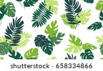 seamless pattern with tropical... | Shutterstock .eps vector #658334866