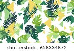 seamless pattern with tropical... | Shutterstock .eps vector #658334872