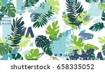 seamless pattern with tropical...   Shutterstock .eps vector #658335052