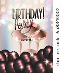 birthday party banner with... | Shutterstock .eps vector #658340002