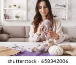 process of making vintage toy ... | Shutterstock . vector #658342006