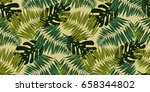 seamless tropical pattern in...   Shutterstock .eps vector #658344802