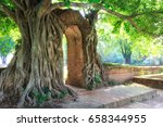 gate of time. arch of bodhi...