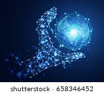 abstract technology concept... | Shutterstock .eps vector #658346452