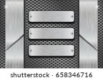 metal rectangle plates on... | Shutterstock . vector #658346716