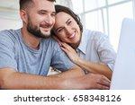 close up of fantastic brunet... | Shutterstock . vector #658348126