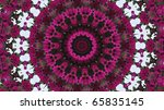 Purple And White Mandala