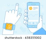 vector flat linear illustration ... | Shutterstock .eps vector #658355002