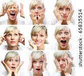 collage of woman different... | Shutterstock . vector #65835514