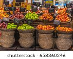 Baskets Of Green And Red Apple...